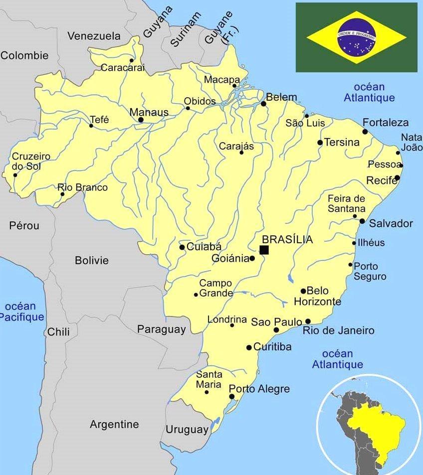 brésil carte