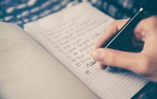 liste des tâches